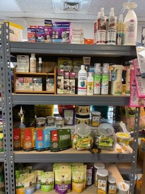 health and beauty pet products on store shelves